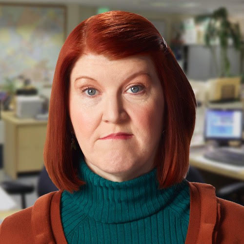 An officially-sanctioned-by-NBC profile pic of Meredith from The Office